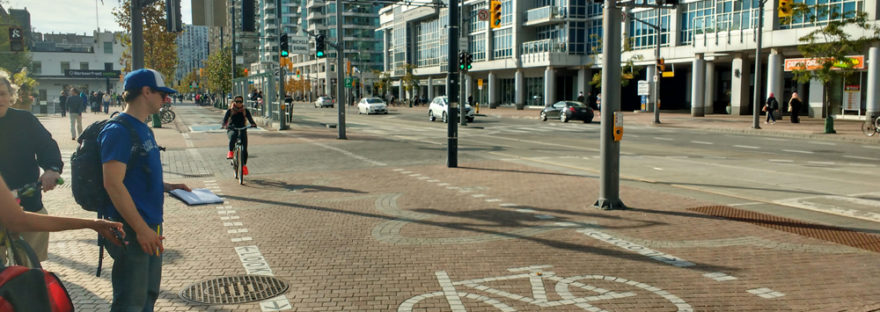 Walk Toronto conducting Queen's Quay audit