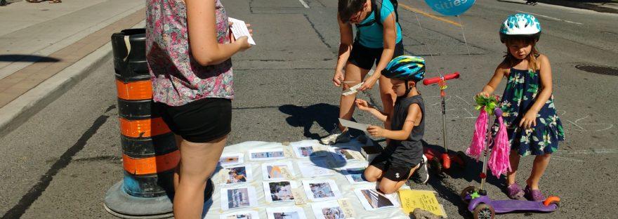 Children playing safe streets quiz