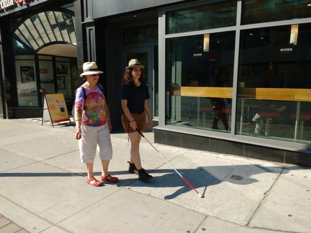 White cane demonstration